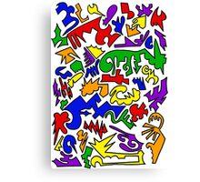 Urban Chaos Colorful Canvas Print