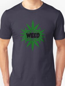weed ganja  smoke for rasta Unisex T-Shirt