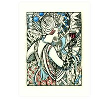 Wine and Pearls, Flapper 1920's Art Print