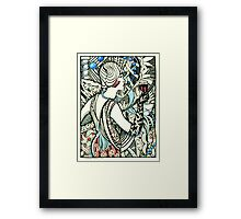 Wine and Pearls, Flapper 1920's Framed Print