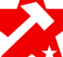 Workers of the World Socialist Red Star Stickers Sticker