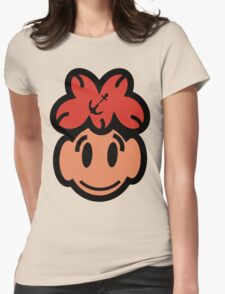 Cute Smiling Face Womens Fitted T-Shirt