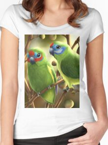 Double-eyed fig parrots Women's Fitted Scoop T-Shirt