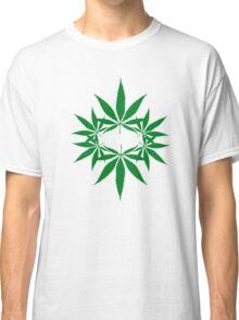 weed ganja  smoke for rasta Classic T-Shirt