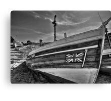 Boat at North Landing - North Yorkshire Canvas Print