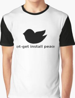 apt-get peace Graphic T-Shirt