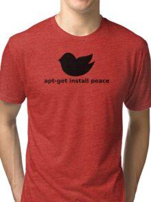 apt-get peace Tri-blend T-Shirt