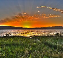 Sunset over the Sea of Galilee Israel  by PhotoStock-Isra