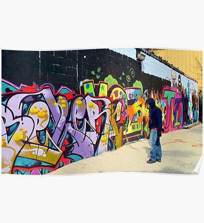 "Classic Graffiti on a ""Permission Wall""   Poster"