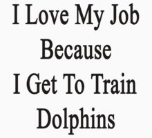 I Love My Job Because I Get To Train Dolphins  by supernova23