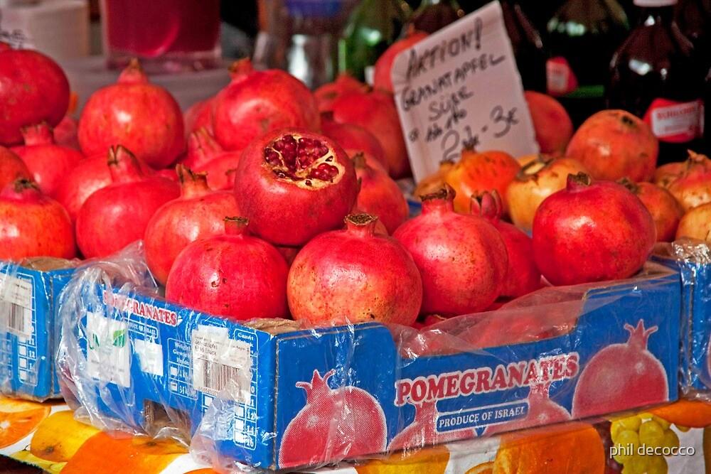 Pomegranates by phil decocco