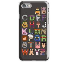 Teenage Mutant Ninja Turtle Alphabet iPhone Case/Skin