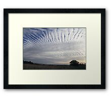 Cloud connections Framed Print
