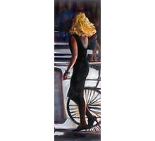 young blond woman in the street Photographic Print