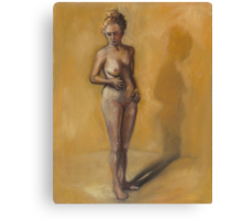 Painting of a woman after breast removal surgery (mastectomy) Canvas Print