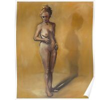 Painting of a woman after breast removal surgery (mastectomy) Poster