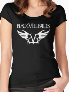 black veil brides band Women's Fitted Scoop T-Shirt
