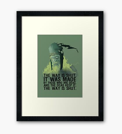 The way is shut. Framed Print