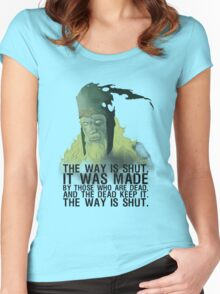 The way is shut. Women's Fitted Scoop T-Shirt
