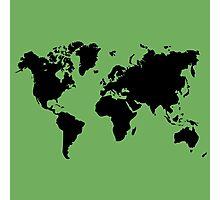 world map monde Photographic Print