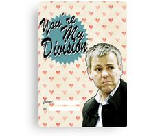 Lestrade Valentine's Day Card Canvas Print