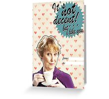 Mrs. Hudson Valentine's Day Card Greeting Card