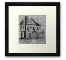 Victorian House in Pen and Ink Framed Print