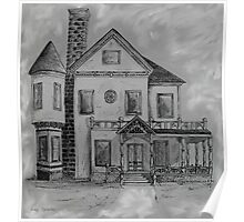 Victorian House in Pen and Ink Poster