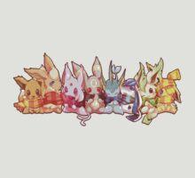 Eevee Evolution Fan Art by everlander