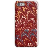 Antique Marbled Paper Red White Blue iPhone Case/Skin
