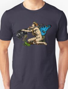 Guitar Girl with Butterlfy Wings Unisex T-Shirt