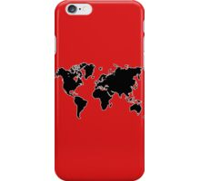 world map monde iPhone Case/Skin