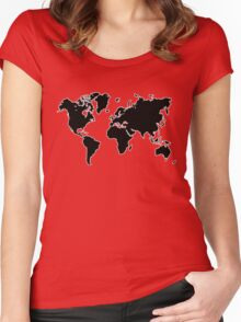 world map monde Women's Fitted Scoop T-Shirt