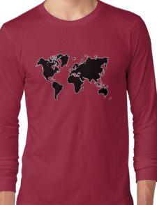 world map monde Long Sleeve T-Shirt