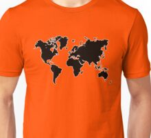 world map monde Unisex T-Shirt