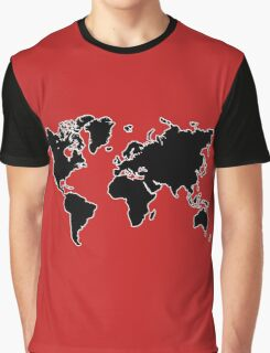 world map monde Graphic T-Shirt