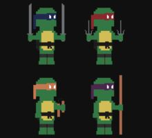 8-Bit Ninja Turtles by AlCreed