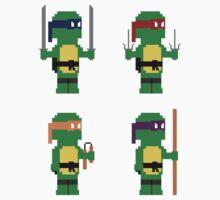 8-Bit Ninja Turtles Kids Clothes