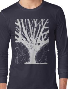 Abstract Tree Painting by Parrish Lee Long Sleeve T-Shirt