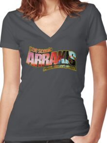 See Scenic Arrakis Women's Fitted V-Neck T-Shirt