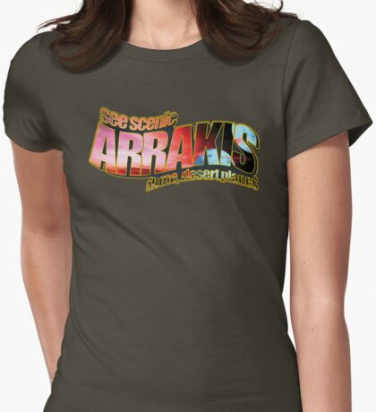 See Scenic Arrakis Womens Fitted T-Shirt