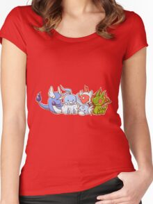 Pokemon Group Women's Fitted Scoop T-Shirt