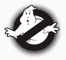 Original Ghostbusters Halftone Logo (in black and white) Kids Tee