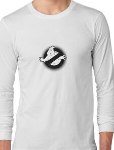 Original Ghostbusters Halftone Logo (in black and white) Long Sleeve T-Shirt