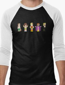8-Bit Pro Wrestling Men's Baseball ¾ T-Shirt