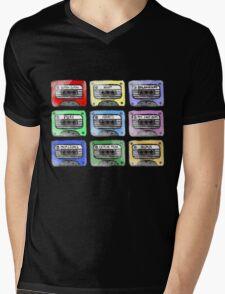 80's Tape Cassette Tee Mens V-Neck T-Shirt