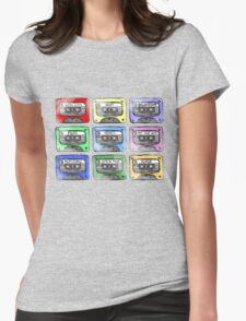 80's Tape Cassette Tee Womens Fitted T-Shirt