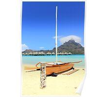 Sail boat, Bora Bora Poster
