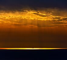 Ship in Light by Baki Karacay