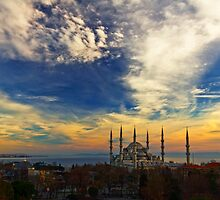 The Blue Mosque by Baki Karacay
